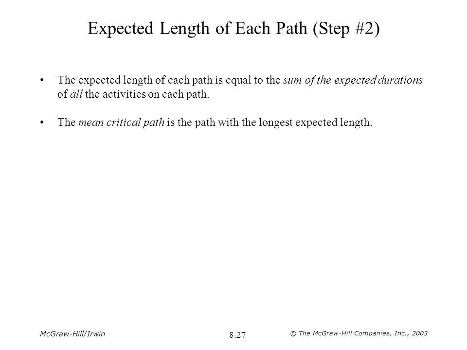Expected Length of Each Path (Step #2)
