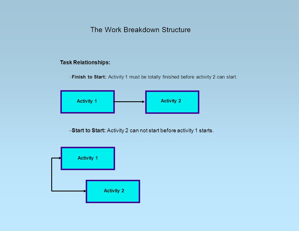 The Work Breakdown Structure