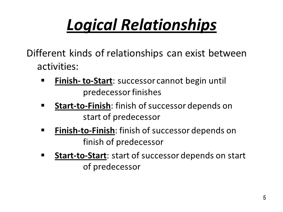 Logical Relationships