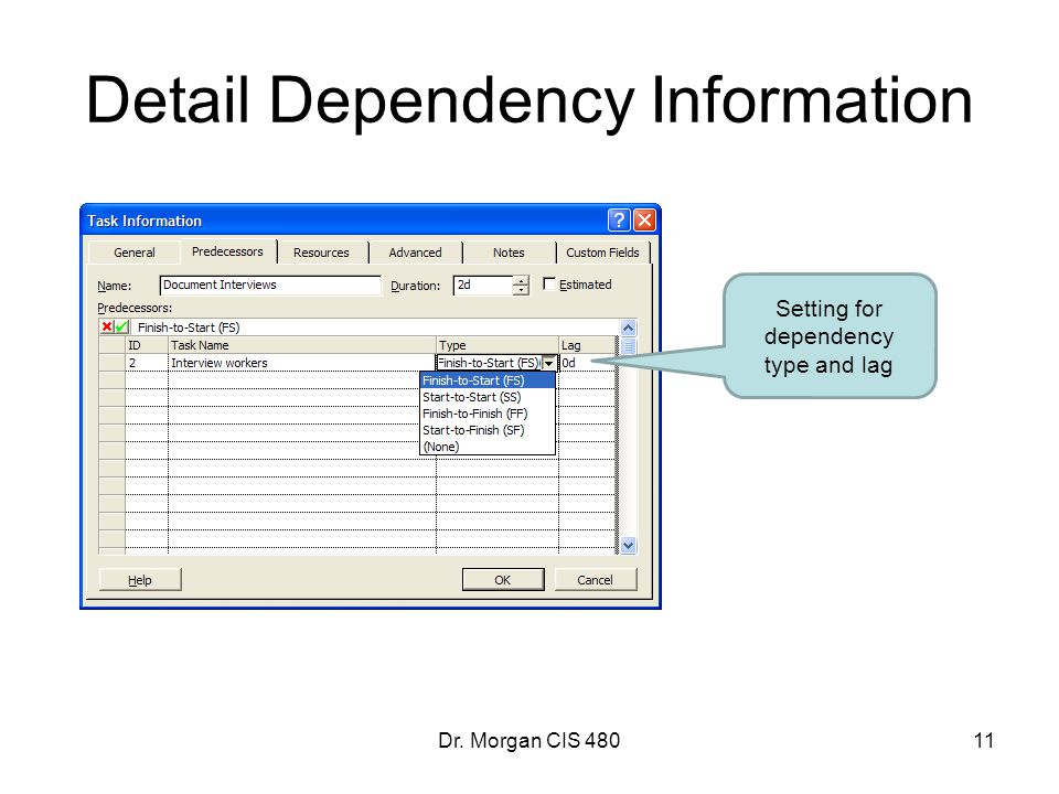 Detail Dependency Information