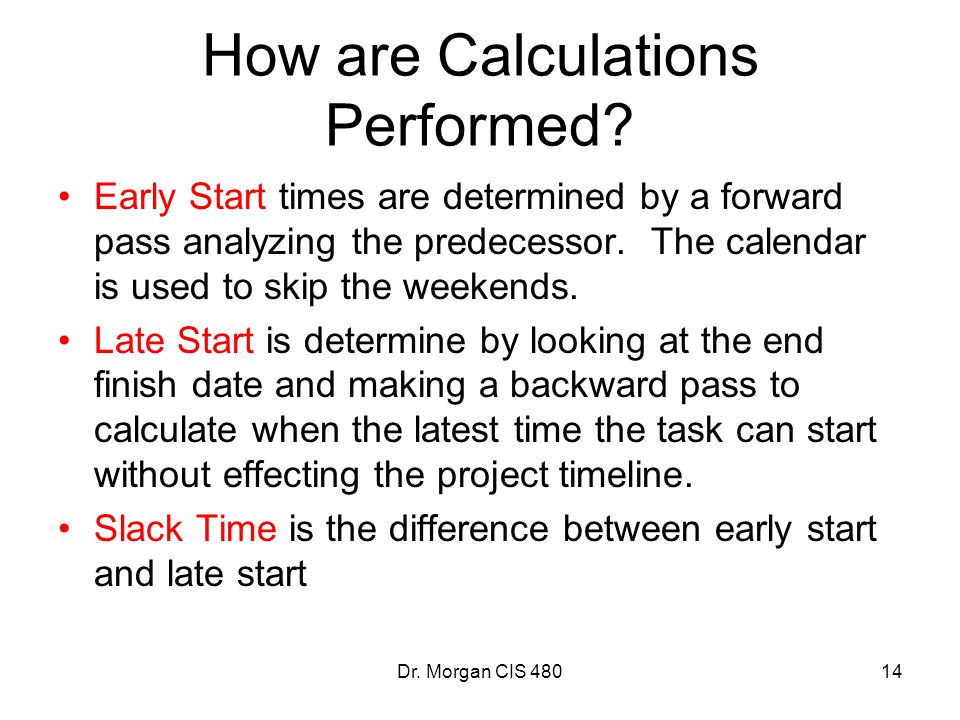 How are Calculations Performed