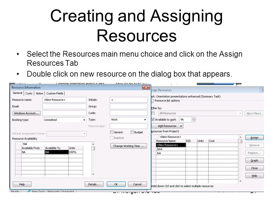 Creating and Assigning Resources