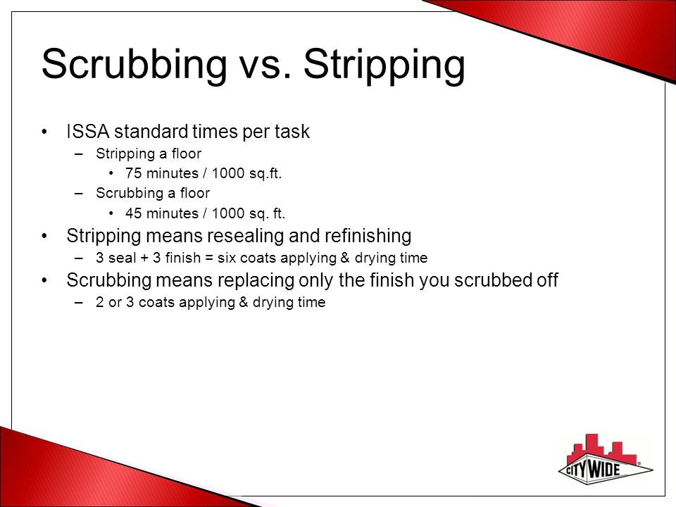 Scrubbing vs. Stripping