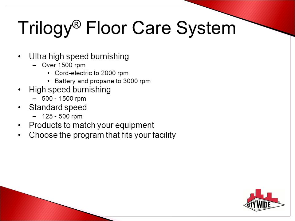 Trilogy® Floor Care System