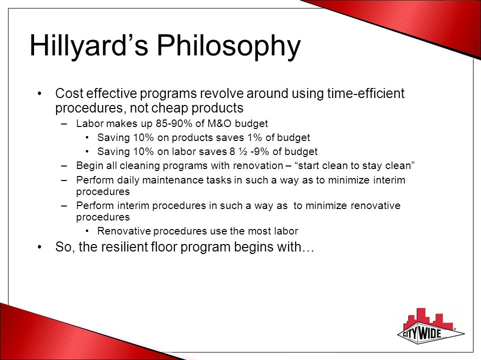 Hillyard's Philosophy