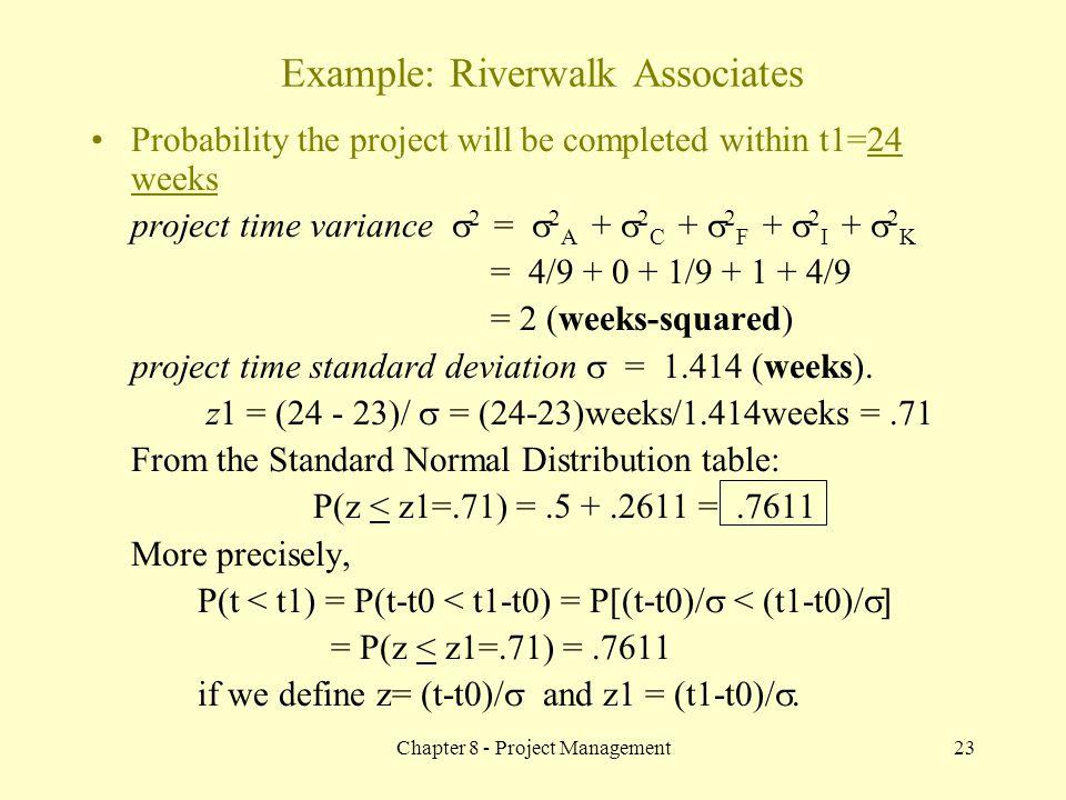 Example: Riverwalk Associates