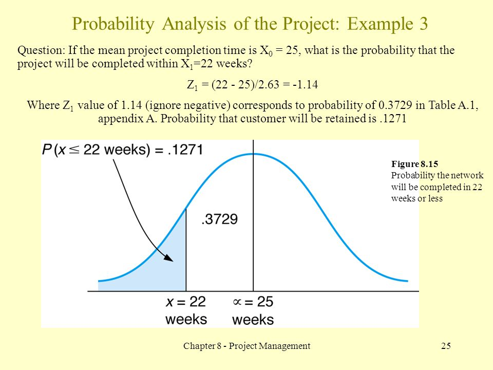 Probability Analysis of the Project: Example 3