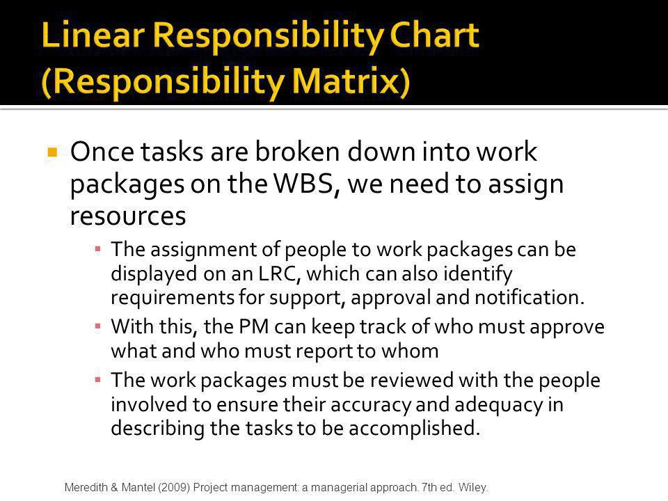 Linear Responsibility Chart (Responsibility Matrix)