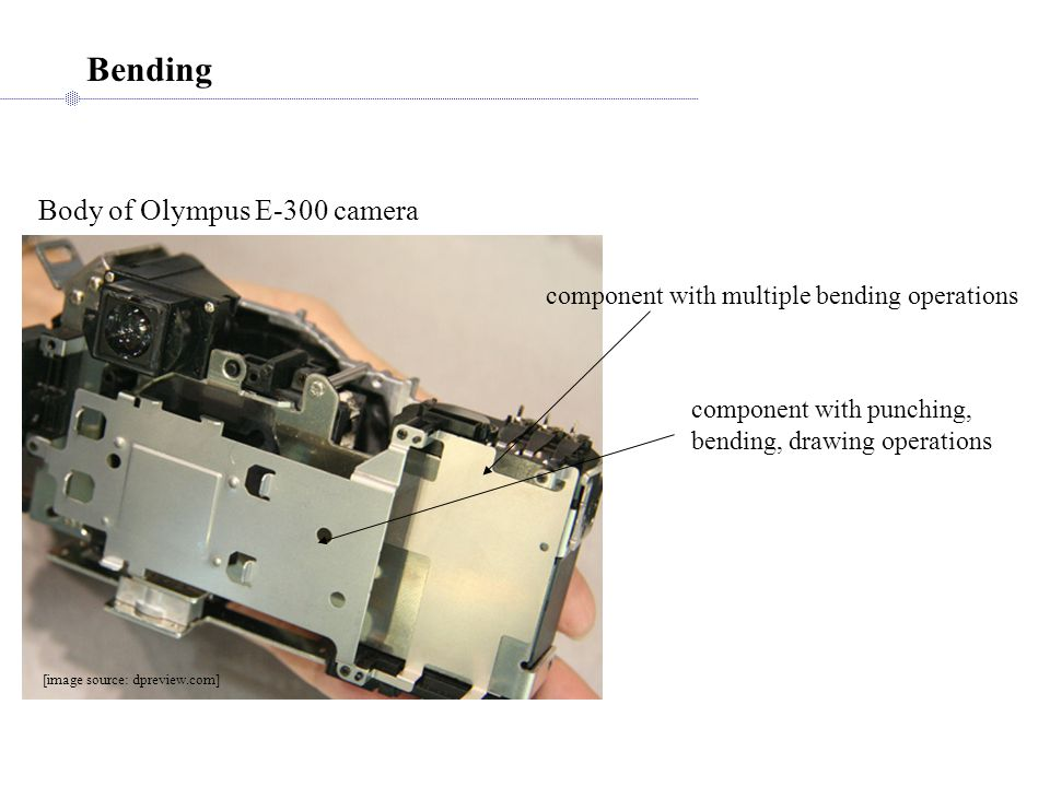 Bending Body of Olympus E-300 camera