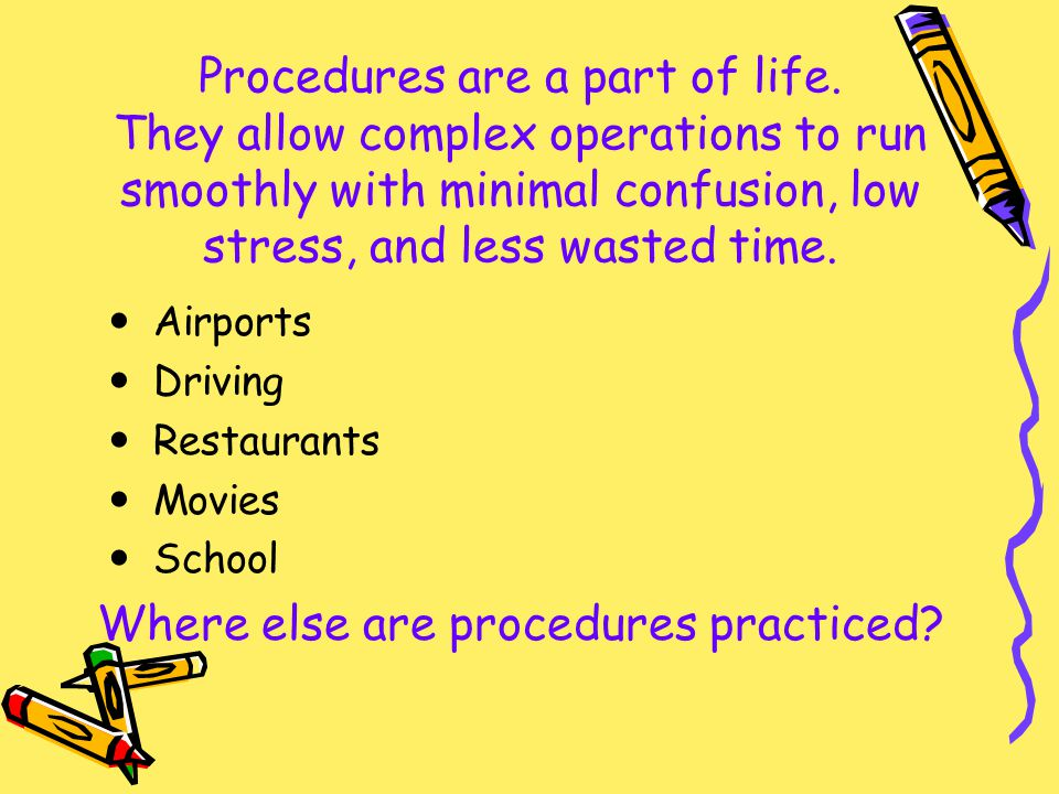Where else are procedures practiced