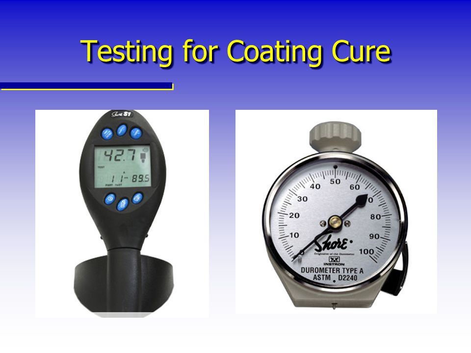 Testing for Coating Cure