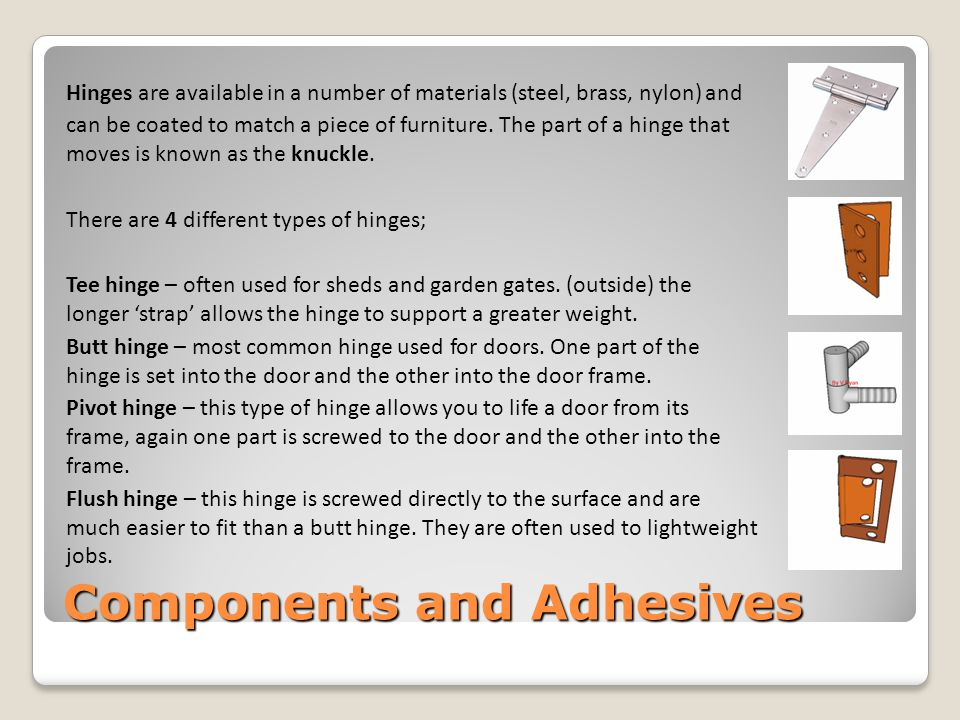 Components and Adhesives