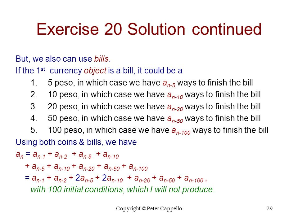 Exercise 20 Solution continued