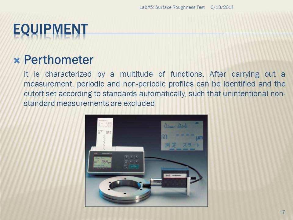 Equipment Perthometer