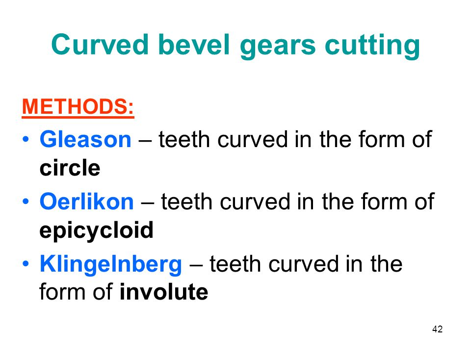 Curved bevel gears cutting