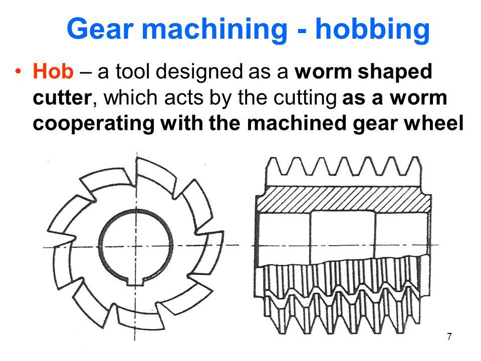 Gear machining - hobbing