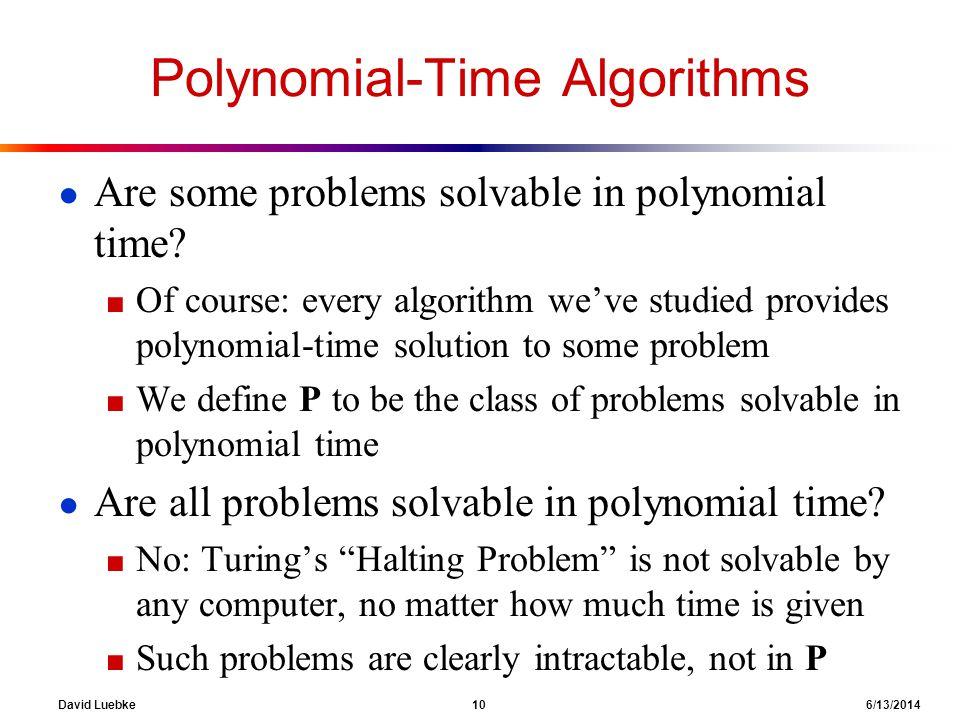 Polynomial-Time Algorithms