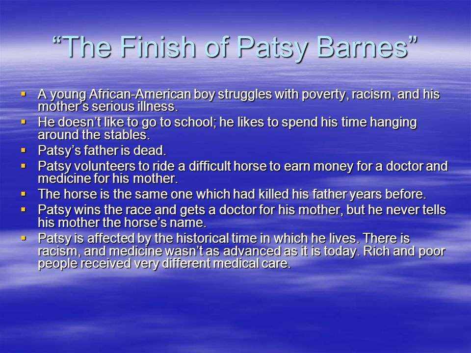 The Finish of Patsy Barnes