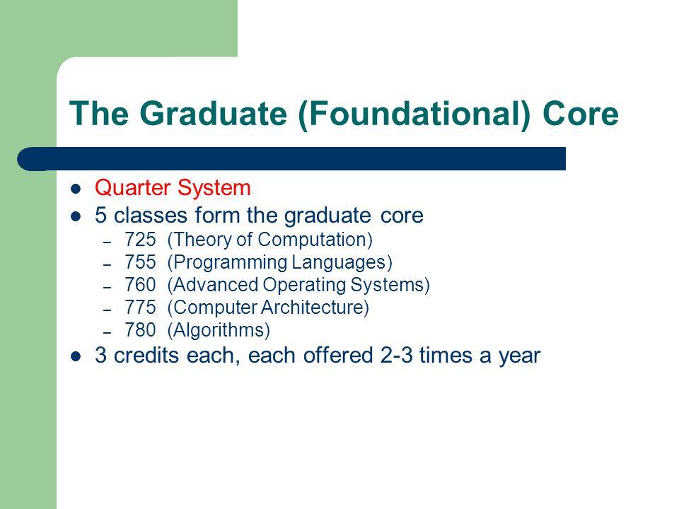 The Graduate (Foundational) Core