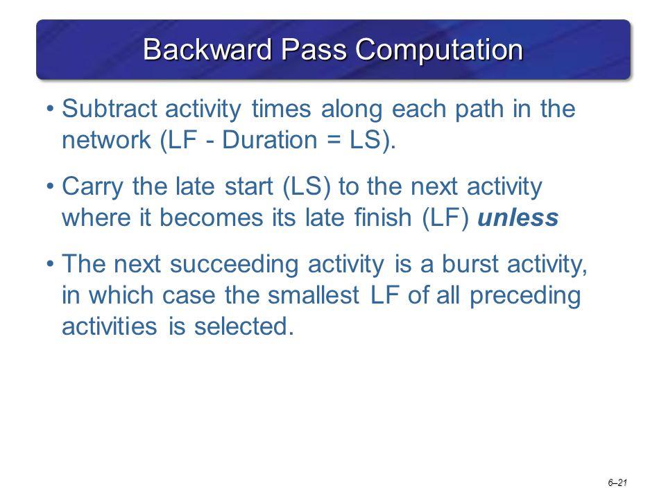 Backward Pass Computation