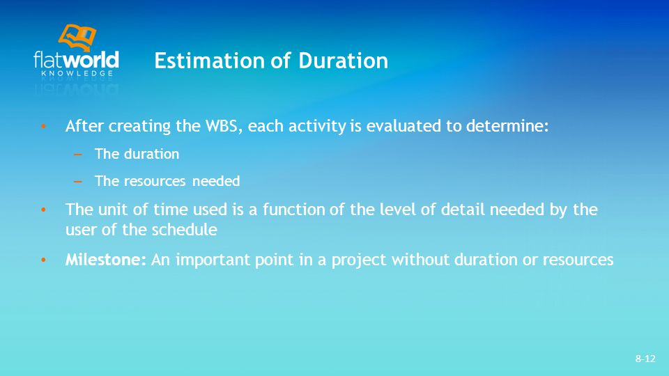 Estimation of Duration
