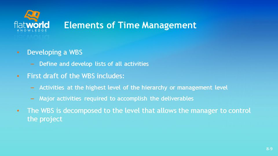 Elements of Time Management