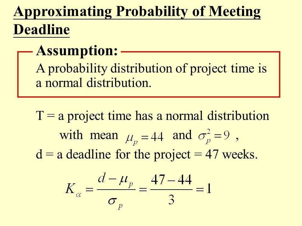 Approximating Probability of Meeting Deadline