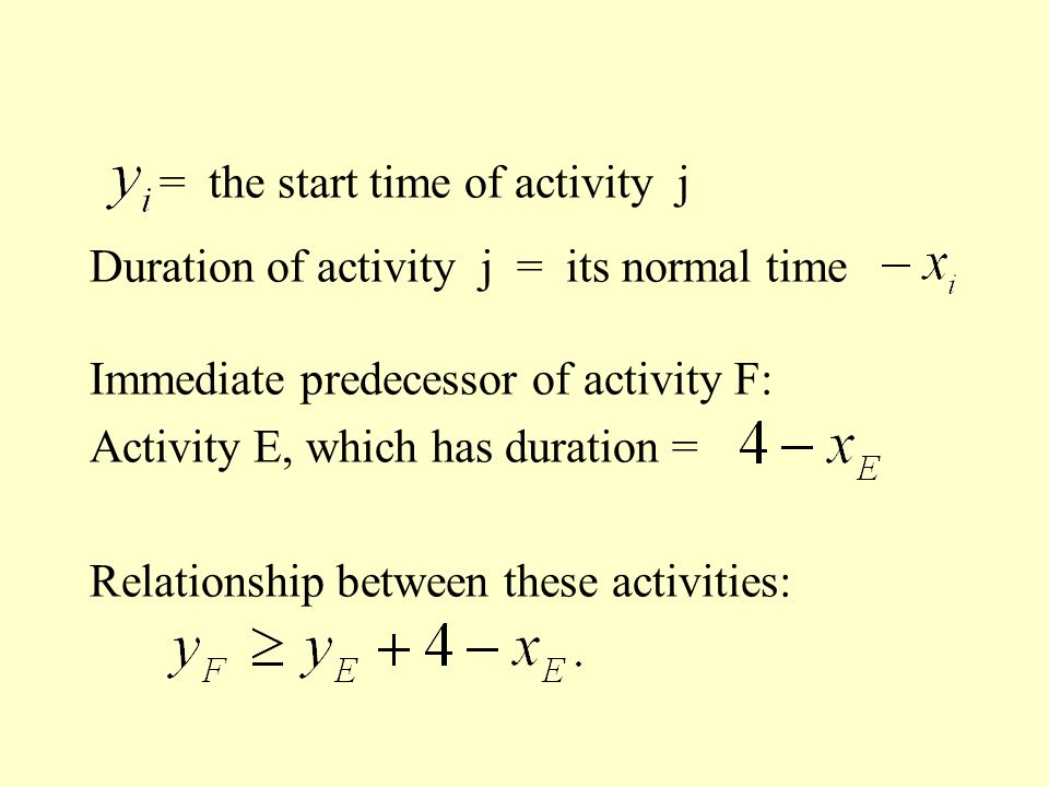 = the start time of activity j