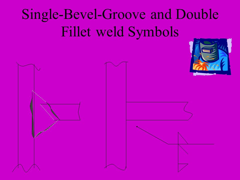 Single-Bevel-Groove and Double Fillet weld Symbols