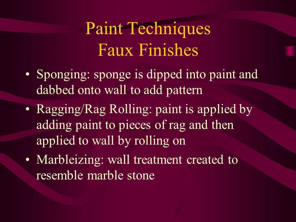 Paint Techniques Faux Finishes