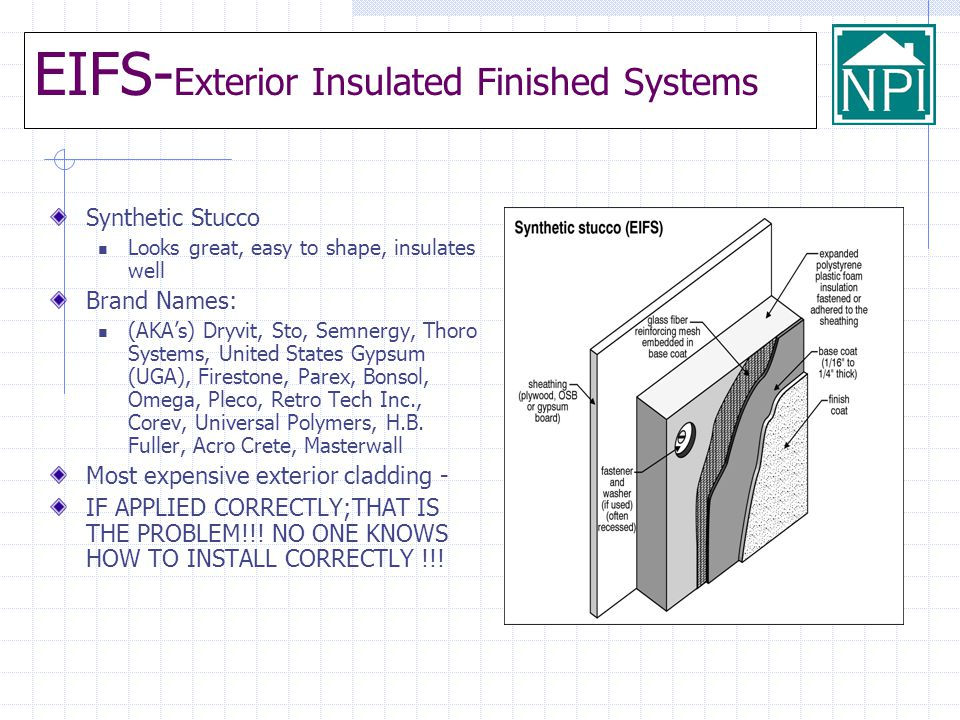 EIFS-Exterior Insulated Finished Systems