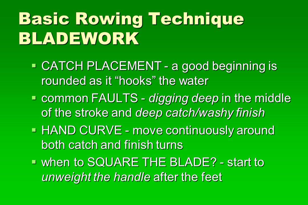 Basic Rowing Technique BLADEWORK
