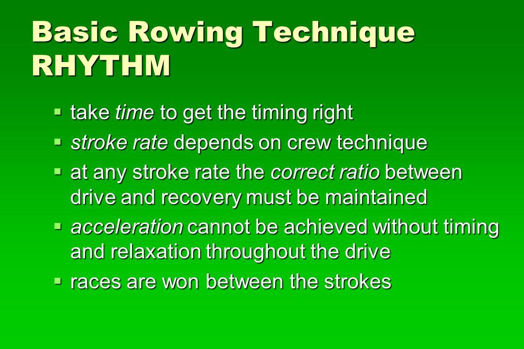Basic Rowing Technique RHYTHM