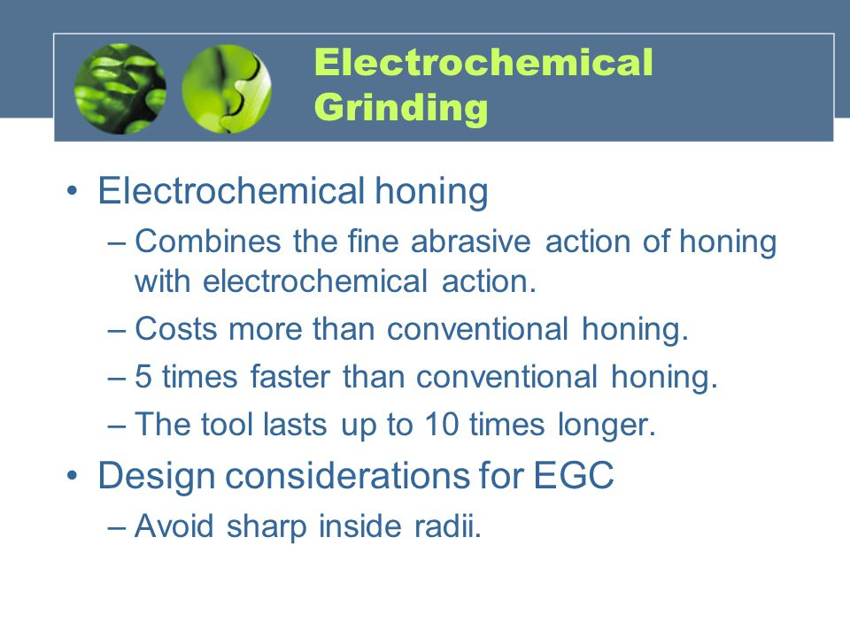 Electrochemical Grinding