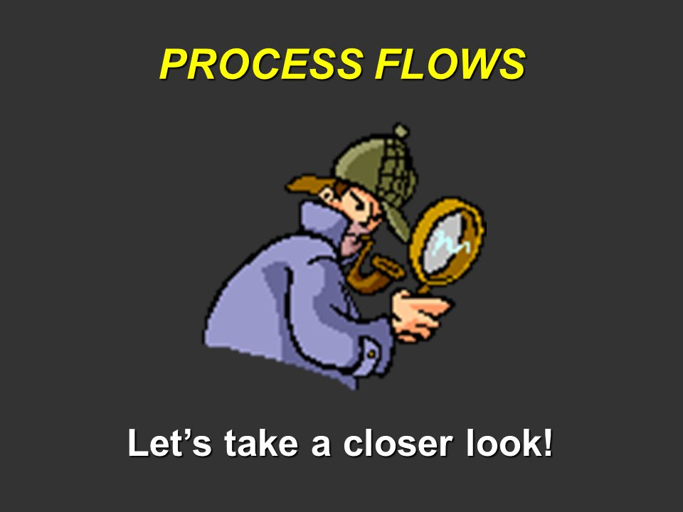 PROCESS FLOWS Let's take a closer look!