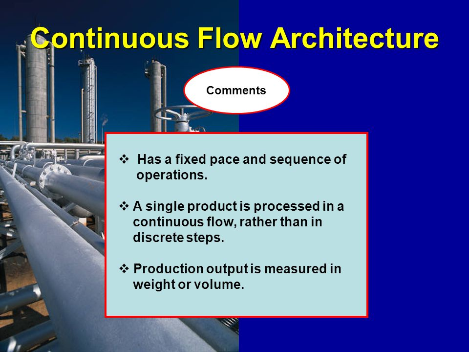 Continuous Flow Architecture