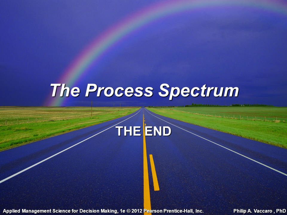 The Process Spectrum THE END