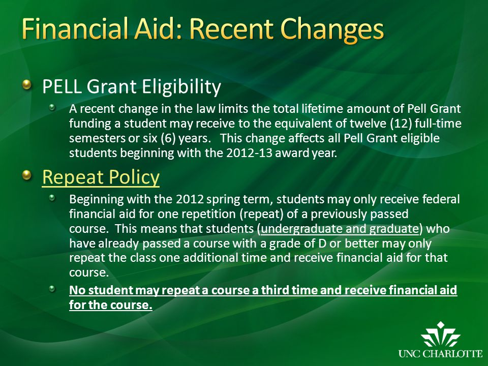 Financial Aid: Recent Changes