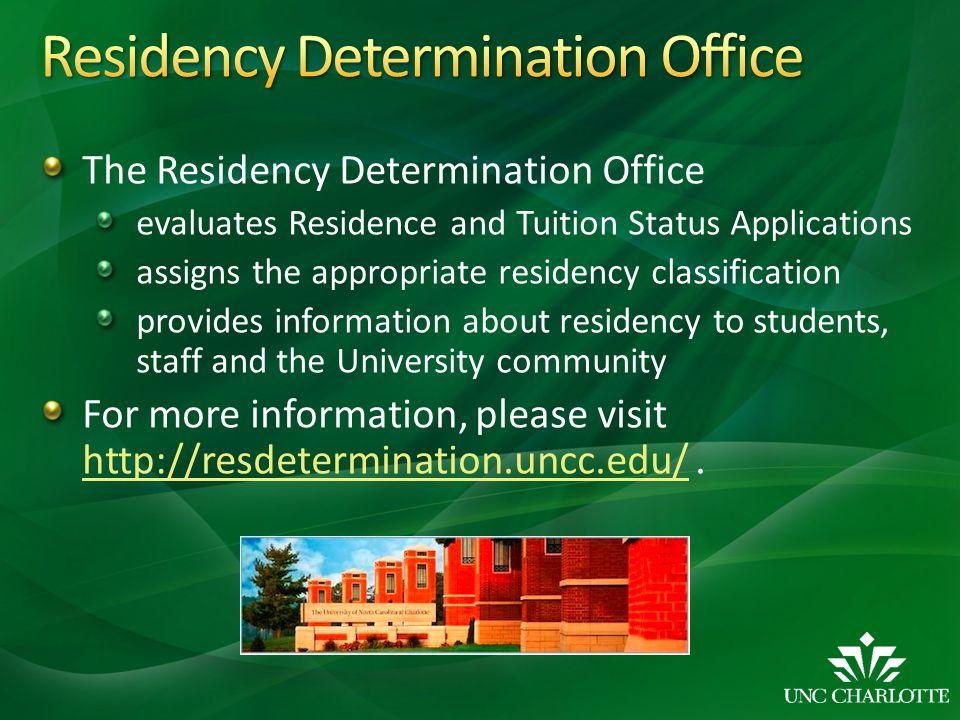Residency Determination Office