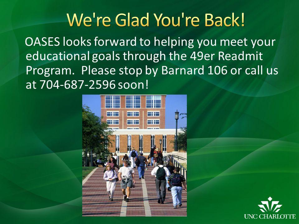 We re Glad You re Back!