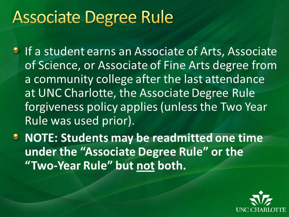 Associate Degree Rule