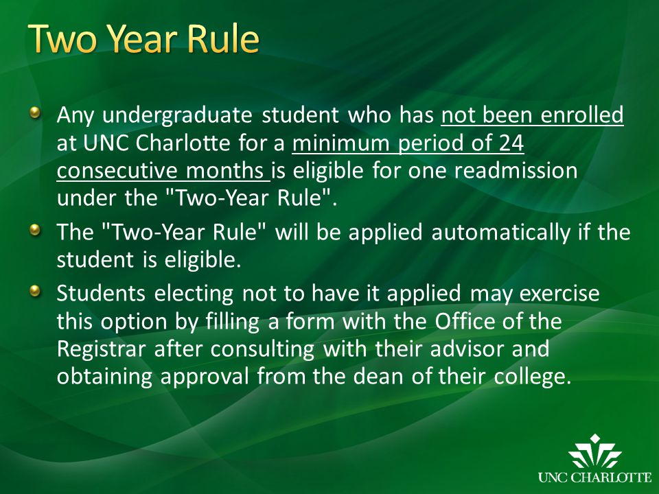 Two Year Rule