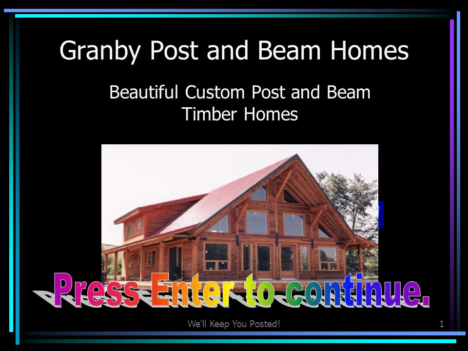 Granby Post and Beam Homes