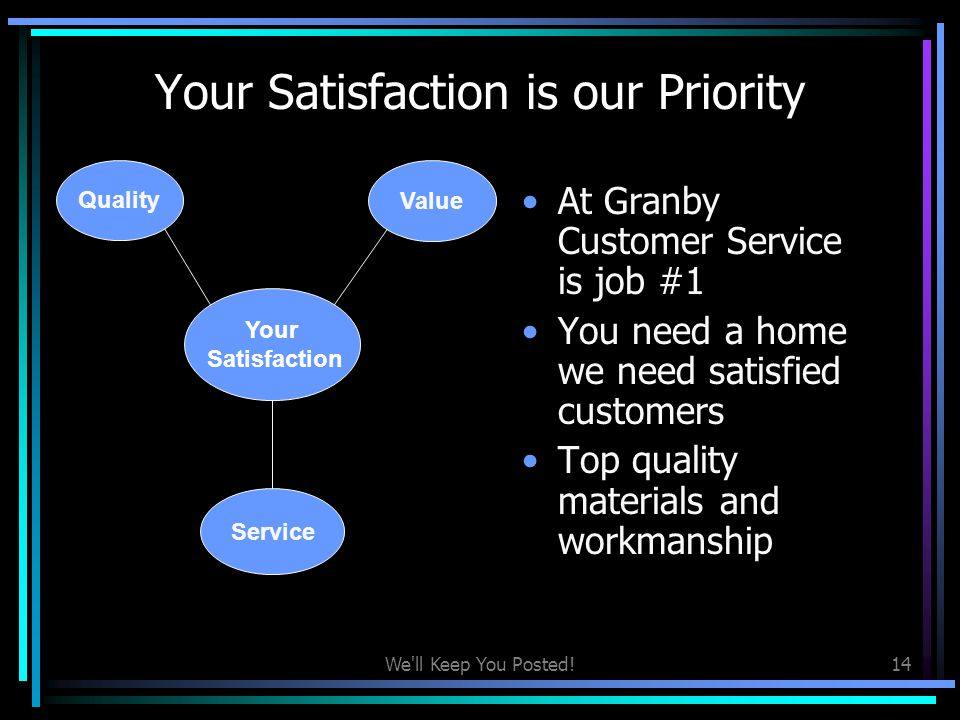 Your Satisfaction is our Priority