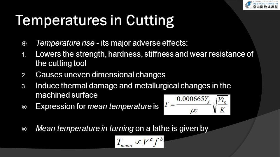 Temperatures in Cutting