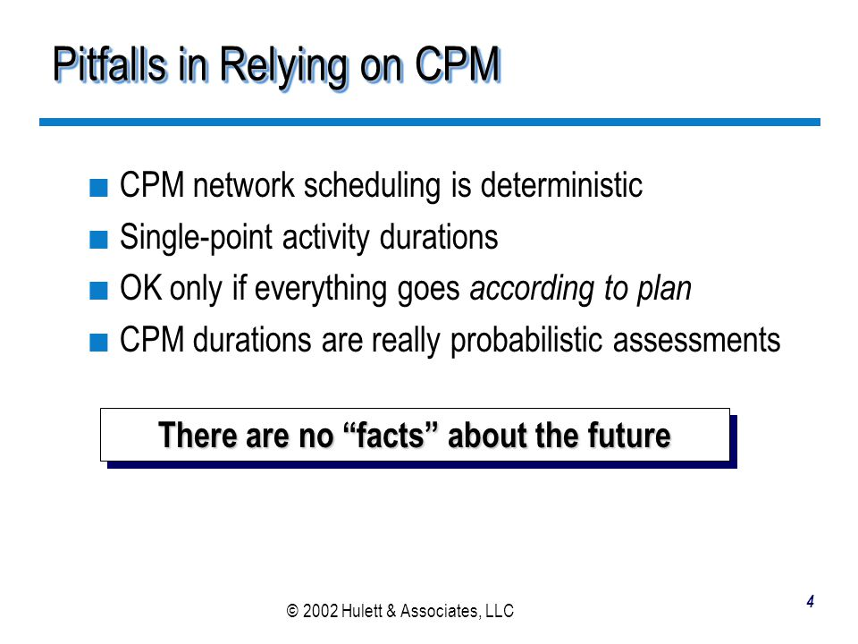 Pitfalls in Relying on CPM