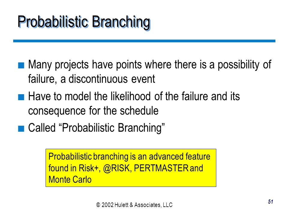Probabilistic Branching