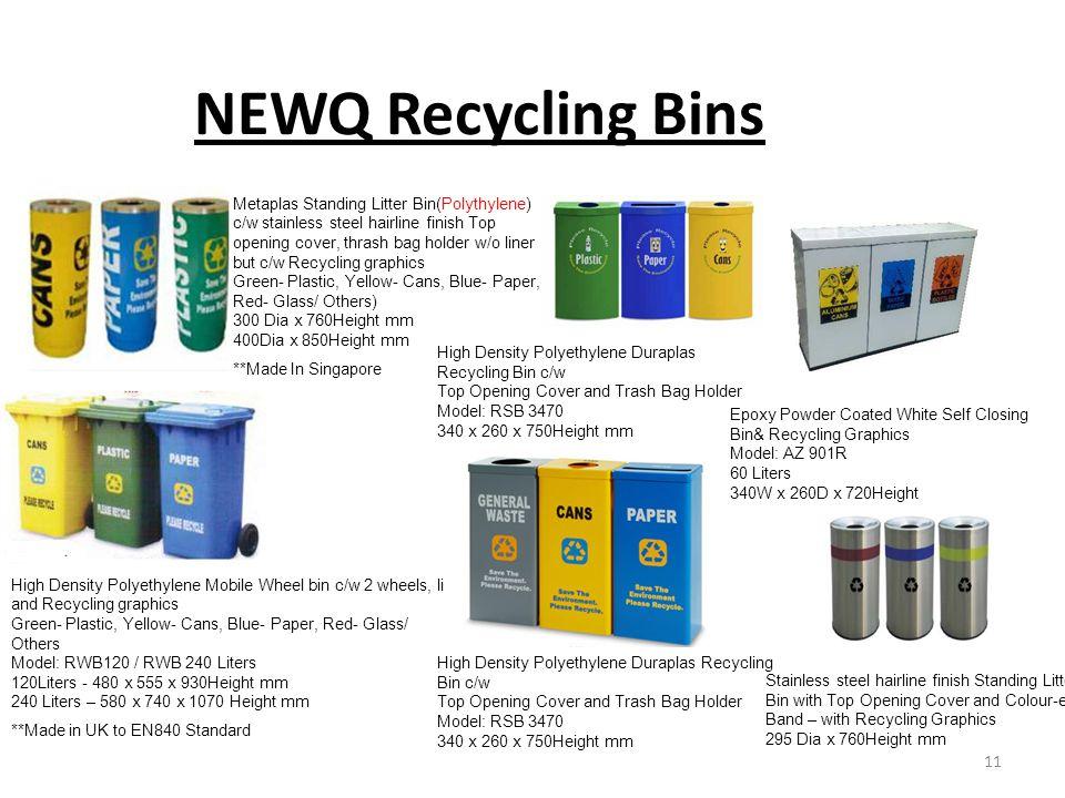 NEWQ Recycling Bins