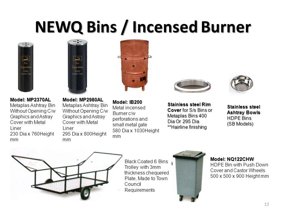 NEWQ Bins / Incensed Burner