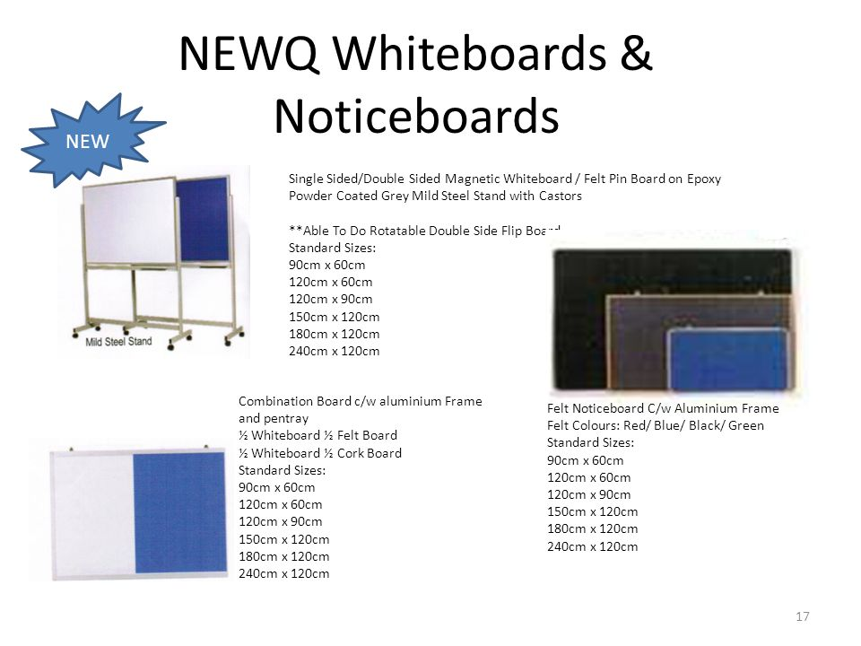 NEWQ Whiteboards & Noticeboards